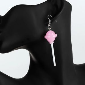 Pink lollipop earrings NEW